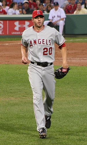 Jon Garland - Garland playing for the Angels in 2008.