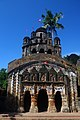 Jor Bangla temple of Durga with Navaratna tower at Bally Dewangunj village in Hooghly District.jpg