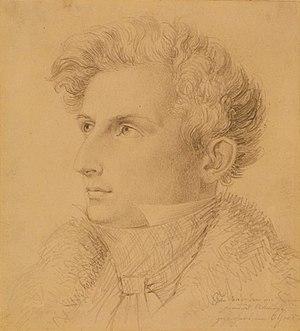 Joseph Petzl - Joseph Petzl 1831, drawing by C. Goos