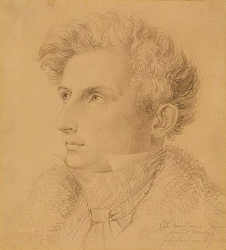 Joseph Petzl - Joseph Petzl 1831, drawing by C. Goos