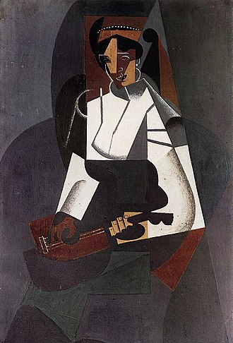 Juan Gris - Juan Gris, September 1916, Woman with Mandolin, after Corot (La femme à la mandoline, d'après Corot), oil on canvas, 92 x 60 cm, Kunstmuseum Basel