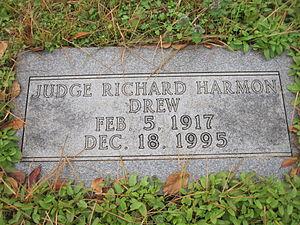 R. Harmon Drew Sr. - Grave of Judge R. Harmon Drew Sr.