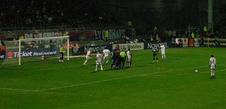 Juninho Pernambucano - Juninho lining up to take a free kick with Lyon.