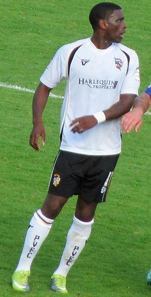 Justin Richards (footballer) - Richards in a September 2010 1–0 victory over Aldershot Town for Port Vale.