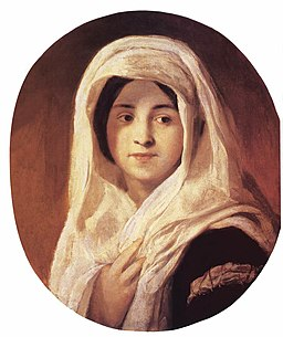 Károly Brocky - Portrait of a Woman with Veil - WGA3213