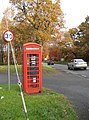 K6 phone box, Edge End - geograph.org.uk - 1044957.jpg