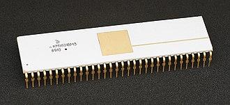 1801 series CPU - KM1801VM3, a later model chip in a CERDIP mount.