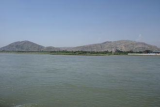Kabul River - Kabul River in Behsood Bridge Area, Jalalabad - 30 July 2009