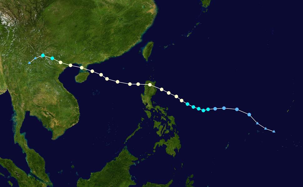 Kalmaegi 2014 track