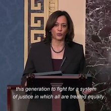 File:Kamala Harris speaks about the impeachment of Donald Trump 2020-01-14.ogv