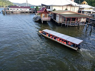 Tourism in Brunei - A tour boat visiting Kampong Ayer