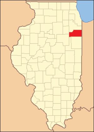Kankakee County, Illinois - Image: Kankakee County Illinois 1853