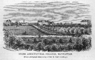 Kansas State University - The college in 1878, three years after moving to its current location