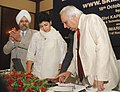 "Kapil Sibal and the Minister of State (Independent Charge) for Housing and Urban Poverty Alleviation Kumari Selja jointly launched the web portal skillindia.com developed under GOI-UNDP project ""Skills and Knowledge for.jpg"