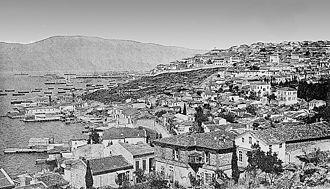 Karataş, İzmir - İzmir's Jewish quarter of Karataş around 1900 (Melantia was the alternative Greek name of the quarter)