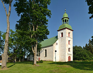 Karksi-Nuia Town in Viljandi County, Estonia