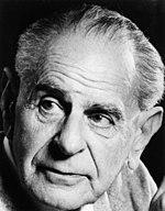 Il filosofo ed epistemologo Karl Popper, amico di von Hayek.