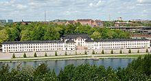 L'antico palazzo Karlberg, sede della Militärhögskolan Karlberg, accademia unificata delle forze armate di Svezia