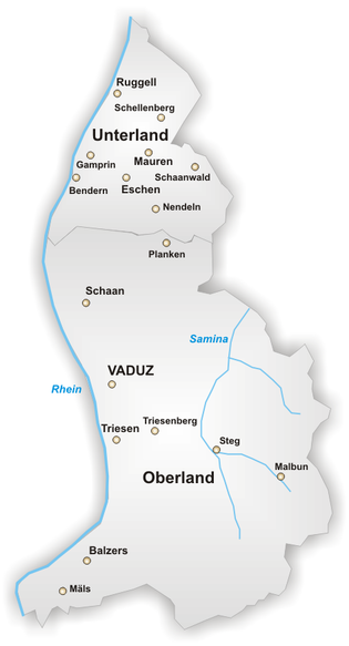 列支敦士登地圖