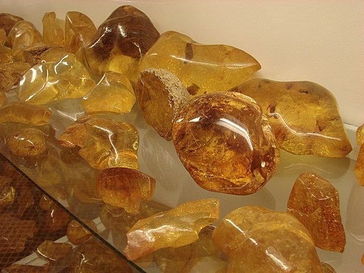 Kauri Gum - amber (copal) in The Kauri Museum, New Zealand by Tatters