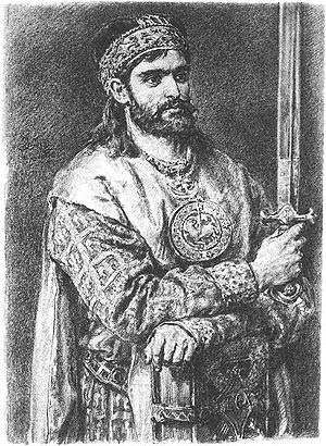 Casimir II the Just - Portrait by Jan Matejko circa 700 years later.