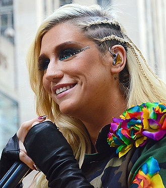 Right Round - The inclusion of Kesha (pictured) was the suggestion of producer Dr. Luke, as Flo Rida wanted a female voice in the song.