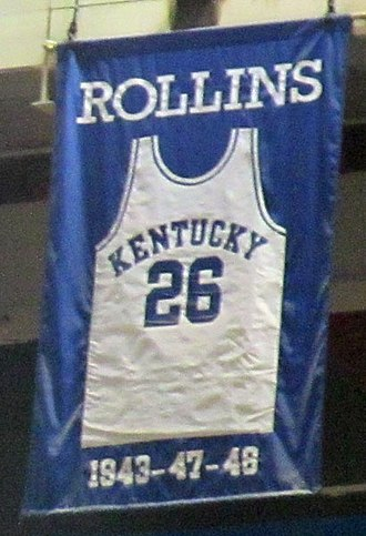 Kenny Rollins - A jersey honoring Rollins hangs in Rupp Arena.