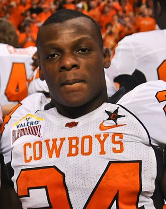 Kendall Hunter - Kendall Hunter after the 2010 Alamo Bowl with Oklahoma State