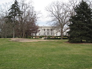 Kentucky Governor's Mansion - The mansion, as seen from the adjacent Capitol lawn