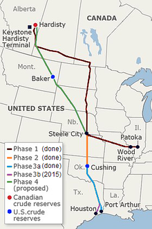 Keystone Pipeline - Wikipedia, the free encyclopedia