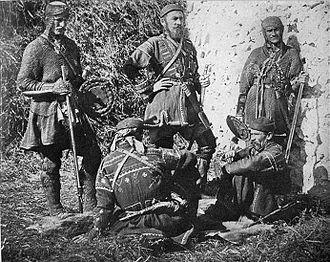 Khevsureti - Khevsur clansmen, c. 1910