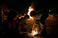 Kids playing with fire in Lag Ba'omer.jpg