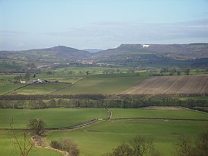 Kilburn White Horse - The White Horse from a distance
