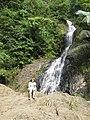 Kim at waterfall (4443062784).jpg