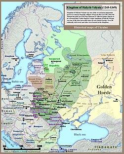 Kingdom of Galicia Volhynia Rus' Ukraine 1245 1349.jpg