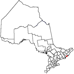 Ligging van Kingston in Ontario, Kanada