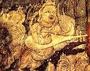 schilderij van kachappi veena uit circa 450 na Christus