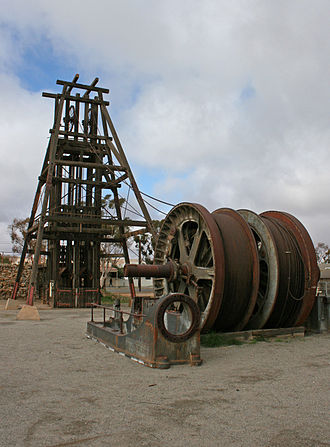 Headframe - The Kintore Headframe and winding drums in Broken Hill, NSW