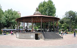 Coyoacán - Kiosk in Plaza Hidalgo