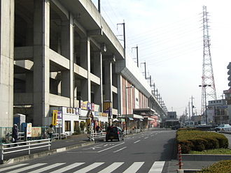 Kita-Toda Station - West side of the station, December 2006