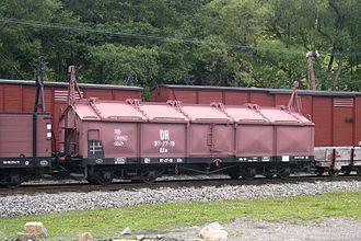 Wagon with opening roof - 750mm narrow-gauge lidded wagon of the Saxon narrow gauge railways