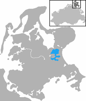 Kleiner Jasmunder Bodden - Location of the Kleiner Jasmunder Bodden