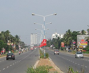 National Highway 66 (India) - Kochi Bypass (part of NH 66) at Vytila, Kochi