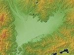 Kofu Basin Relief Map, SRTM-1.jpg