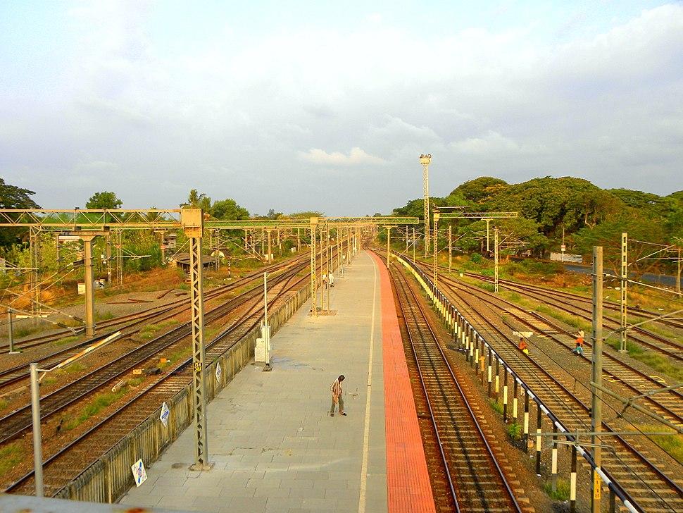 Kollam Platform's eastern end