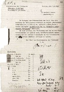 Scan of the Wehrmacht veterans' denials of adherence to the Commissar Order