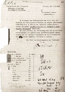 Nazi conspiracy-enforcing unit of the Nazi military