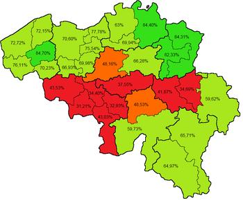Koningskwestie kaart met percentage voor-stemmen.png