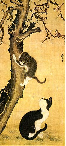 Korean art-Byeon Sangbyeok-Myojakdo-Painting of Cats and Sparrows-01.jpg