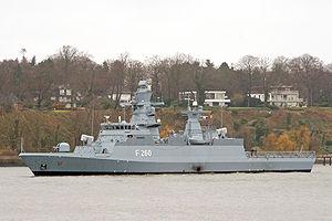 Braunschweig-class corvette - Image: Korvette Braunschweig F260 2895